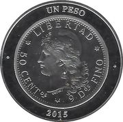 1 Peso (80th Anniversary of B.C.R.A.) – reverse