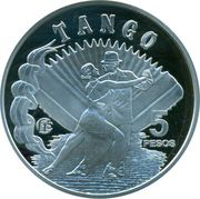 "5 Pesos (Fabulous 15 ""Tango"") -  obverse"