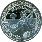"5 Pesos (Fabulous 15 ""El payador"") – obverse"