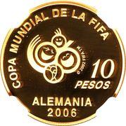 10 Pesos (World Cup Germany 2006) -  reverse