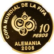 10 Pesos (World Cup Germany 2006) -  reverse