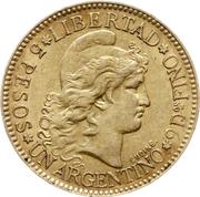 5 Pesos / 1 Argentino – reverse