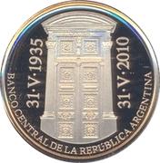 5 Pesos (75th Anniversary of B.C.R.A.) -  obverse