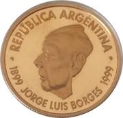 5 Pesos (Jorge Luis Borges) -  obverse