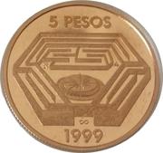 5 Pesos (Jorge Luis Borges) -  reverse