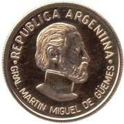 5 Pesos (General Güemes) -  obverse