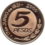 5 Pesos (General Güemes) -  reverse