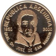 5 Pesos (Death of General San Martin) -  obverse