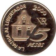 5 Pesos (Death of General San Martin) -  obverse