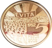 5 Pesos (Eva Peron) -  reverse