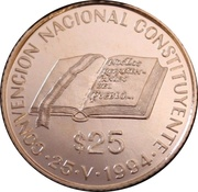 25 Pesos (National Constitution Convention) -  reverse
