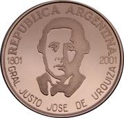 5 Pesos (General Urquiza) -  obverse
