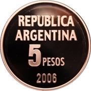 5 Pesos (Defense of Human Rights) -  reverse