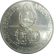 5 Pesos (National Constitution Convention) -  obverse