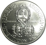 2 Pesos (National Constitution Convention) -  obverse