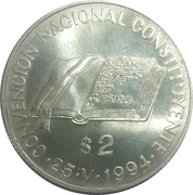 2 Pesos (National Constitution Convention) -  reverse