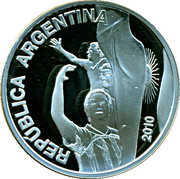 5 Pesos (FIFA World Championship South Africa) -  obverse