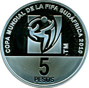 5 Pesos (FIFA World Championship South Africa) -  reverse