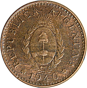 1 Centavo – obverse