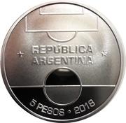 5 Pesos (FIFA World Cup Russia 2018) -  obverse