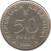 50 Pesos (magnetic) – reverse