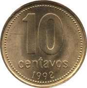 10 Centavos (reeded edge; non-magnetic) -  reverse