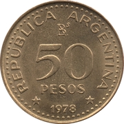 50 Pesos (José de San Martín) – reverse