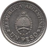 1 Peso (May Revolution) – obverse