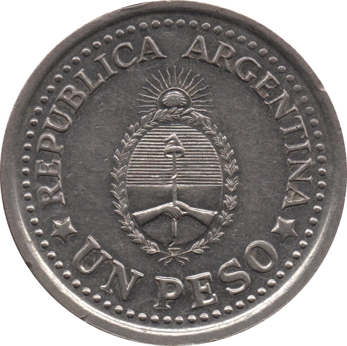 1 Peso May Revolution Argentina Numista