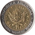 1 Peso (Bicentennary of the First Patriotic Coin) – obverse