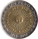 1 Peso (Bicentennary of the First Patriotic Coin) – reverse