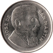 20 Centavos (smaller head, smooth edge) – obverse