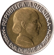 1 Peso (Women's Vote) -  obverse