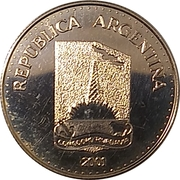 5 Pesos (Centenary of the Foundation of Comodoro Rivadavia) -  obverse