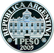 1 Peso (70th Anniversary of B.C.R.A.) -  reverse