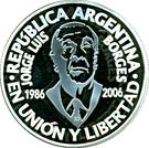 1 Peso (Jorge Luis Borges) – obverse