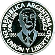 1 Peso (Jorge Luis Borges) -  obverse