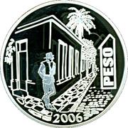 1 Peso (Jorge Luis Borges) -  reverse