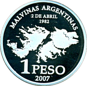 1 Peso (Islas Malvinas Occupation) – reverse