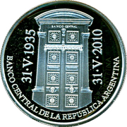 1 Peso (75th Anniversary of B.C.R.A.) -  obverse