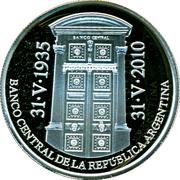 1 Peso (75th Anniversary of B.C.R.A.) -  obverse