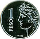 1 Peso (75th Anniversary of B.C.R.A.) – reverse