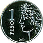 1 Peso (75th Anniversary of B.C.R.A.) -  reverse