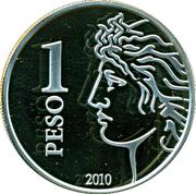 1 Peso (75th Anniversary of B.C.R.A.) -  reverse