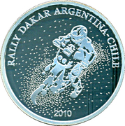 1 Peso (Rally Dakar Argentina-Chile 2010) -  obverse