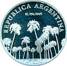 1 Peso (El Palmar - Silver Proof Issue) – obverse