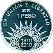 1 Peso (El Palmar - Silver Proof Issue) -  reverse