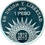 1 Peso (Pucará de Tilcara - Silver Proof Issue) -  reverse