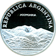 1 Peso (Aconcagua - Silver Proof Issue) – obverse