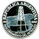 1 Peso (Centenary of the Discovery of Oil in Argentina) – obverse